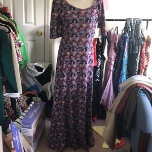 LuLaRoe Ana maxi dress Size XL NWT